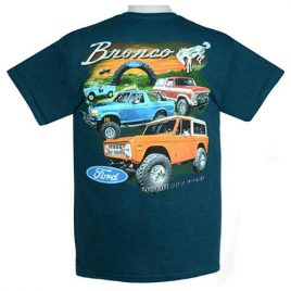 Ford Bronco T-Shirts 100% Cotton Preshrunk