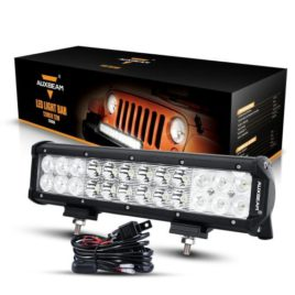 Auxbeam 12-Inch 72W CREE LED Spot/Flood Light Bar With Wiring Harness