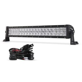 Auxbeam 22-Inch 120W CREE LED Spot/Flood Light Bar With Wiring Harness