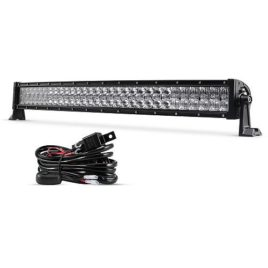 Auxbeam 32-Inch 180W Curved CREE LED Spot/Flood Light Bar With Wiring Harness