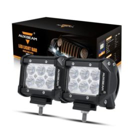 Auxbeam 4-Inch 18W Flood LED Light Pods (Pair)