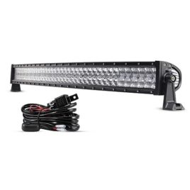 Auxbeam 42-Inch 240W Curved LED Spot/Flood Light Bar W/Wiring Harness
