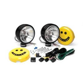 KC HiLiTES 238 Daylighter Black 100w Spread Beam Light System