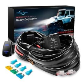 MICTUNING HD+ 12 Gauge 600W Wiring Harness W/ Relay/Rocker Switch/Fuse