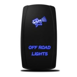 MICTUNING 20A 12V Blue LED Rocker Switch – Off Road Lights