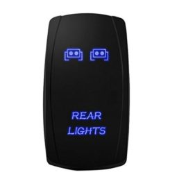 MICTUNING 20A 12V Blue LED Rocker Switch – Rear Lights