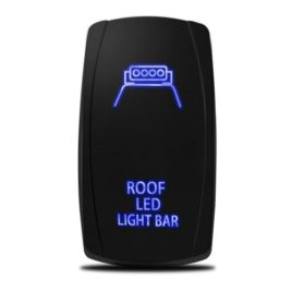 MICTUNING 20A 12V Blue LED Rocker Switch – Roof LED Light Bar