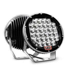 Nilight 9-Inch 96W Black Round Spot LED Light (Pair)