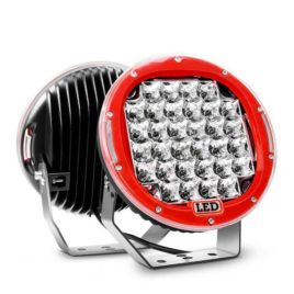 Nilight 9-Inch 96W Red Round Spot LED Light (Pair)