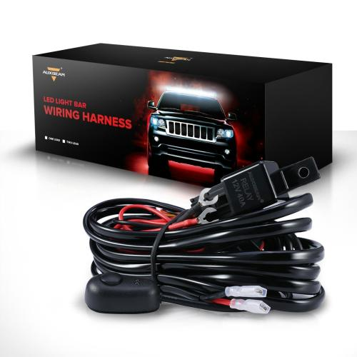 Auxbeam 240w Led Wiring Harness W 40amp Relay Switch Fuse