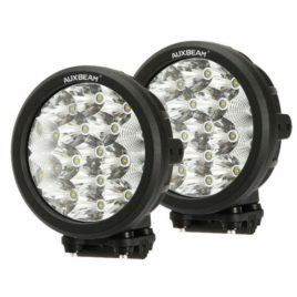 Auxbeam 7-Inch Round 80w CREE LED Spot/Flood Light (Pair)
