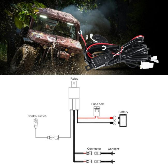 auxbeam_harness_1-1  Player Fish Game Wire Harness Kit on