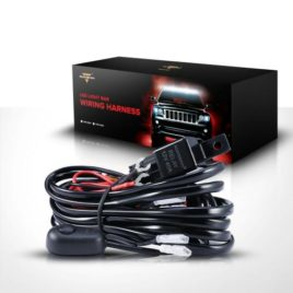 Auxbeam 180W LED Wiring Harness W/ 40Amp Relay/Switch/Fuse (2-Lead)