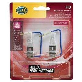 HELLA 130W H3 12V High Wattage Bulb (Twin Pack)