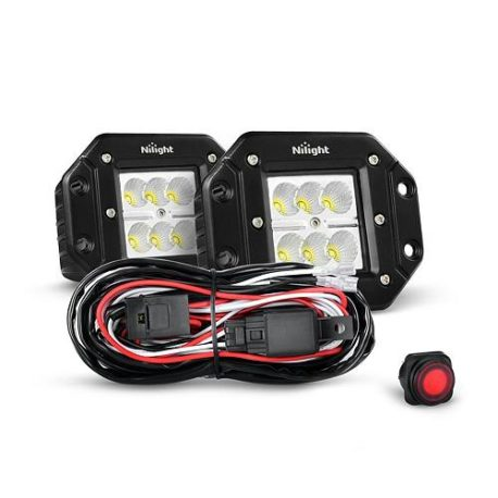 nilight-18w-flush-mount-led-flood-lights-with-wiring-harness-pair
