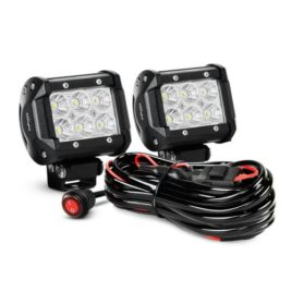 Nilight 18W Led Flood Beam Light Pods With Wiring Harness (Pair)