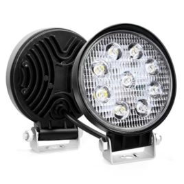 Nilight 4.5-Inch 27w Round LED Flood Light (Pair)