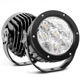 Nilight 4.7-Inch 45W Round LED Spot Light (Pair)