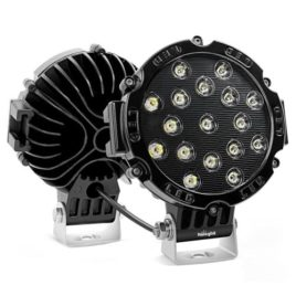 Nilight 7-Inch 51w Black Round LED Spot Light (Pair)