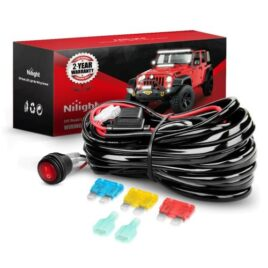 Nilight 1-Lead 14AWG Heavy Duty Wiring Harness Kit