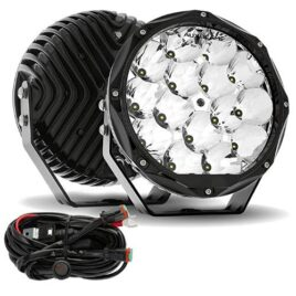 Auxbeam Round Offroad Light 9-Inch Round 46w Spot Beam with Orsam Chips (Pair)